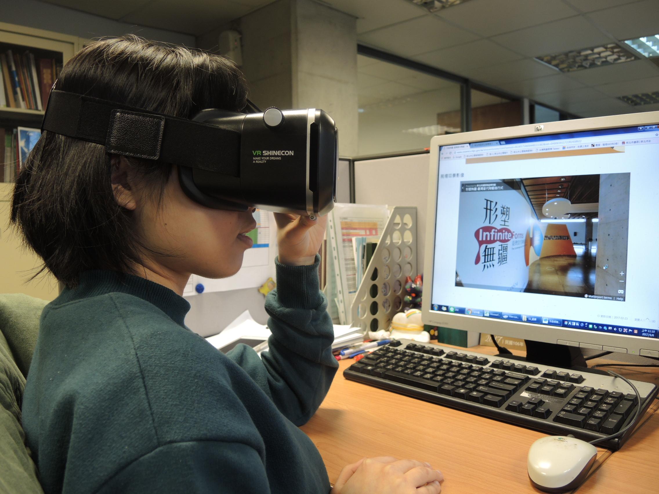 若工作太忙碌,民眾不妨抽空,到陶博官網欣賞特展360度環景影像或是戴上VR眼鏡「親臨」展場,不受時空限制,是不錯的休閒選擇。