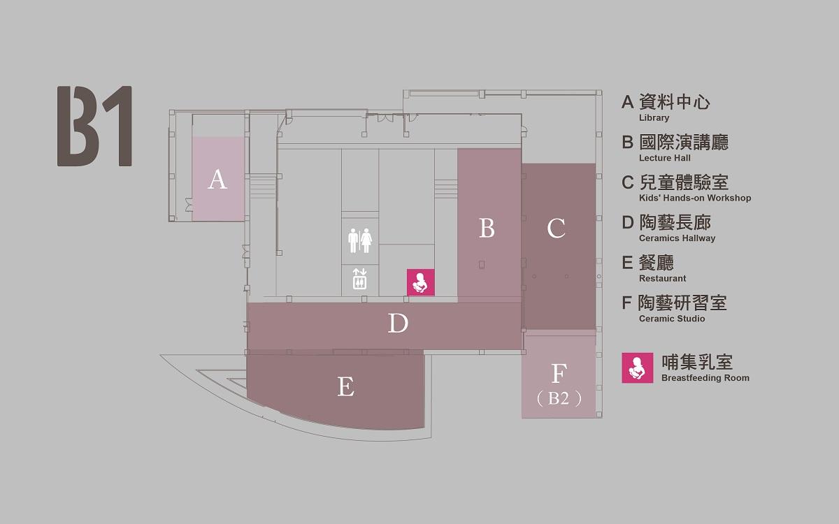 地下一樓、地下二樓平面圖