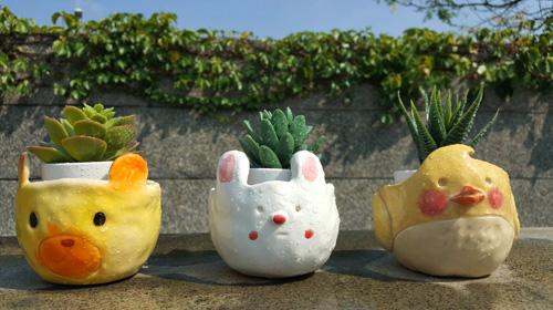 陶藝研習室-動物花器
