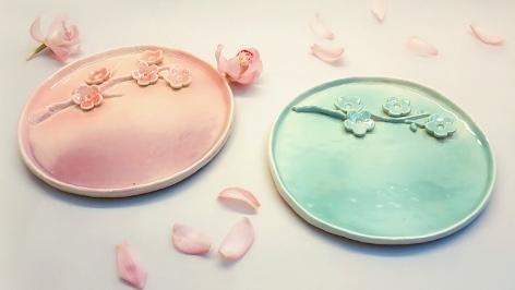 陶藝研習室-花漾甜點盤