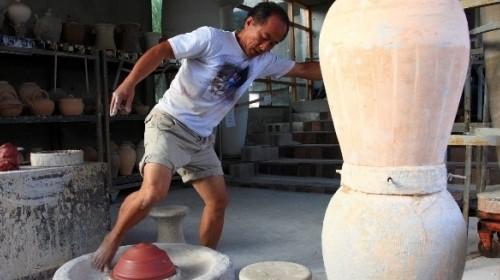 園區示範教學-「傳統腳踢轆轤」