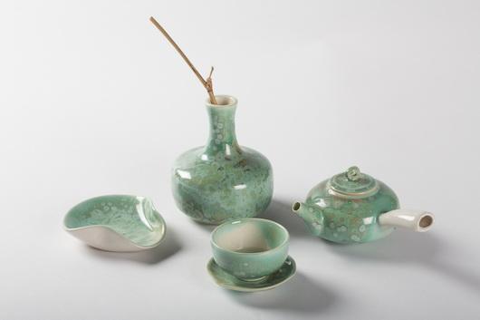 綠桔結晶茶器組