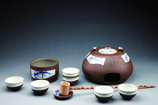 禪藝陶曰岩礦茶具組