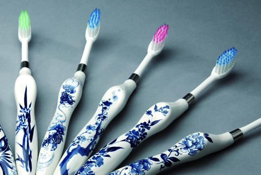 環保青花瓷牙刷