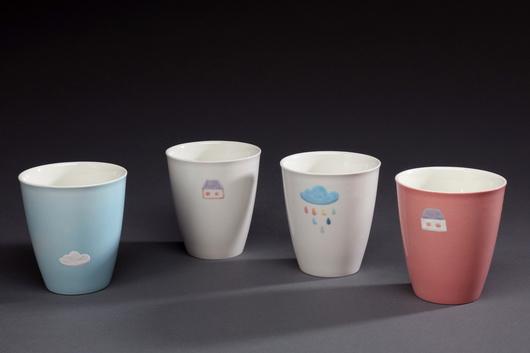 彩色系列杯(房子、雲朵)