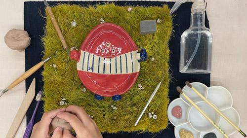 怪獸小陶師訓練營-黏土怪彩盤